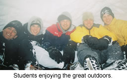 Students enjoying the outdoors.