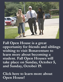 Fall Open House information.