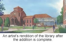 The look of the library once it is finished.