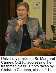 University president Sr. Margaret Carney