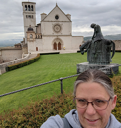 Pictured_Jennifer Landow on pilgrimage to Assisi, Italy