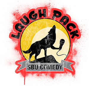 Logo for the Laugh Pack comedy club at St. Bonaventure
