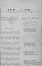 The first page of the first issue (June 1899) of The Laurel