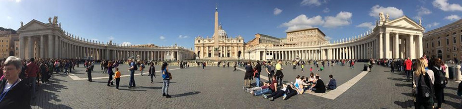 St. Peter's Square in Rome, Italy