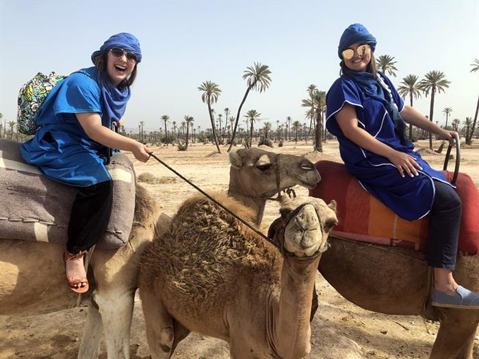 Global Scholars Rebekah Liszewski and Bobbi Fragale in Morocco