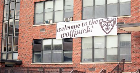 Welcome to the wolf pack sign