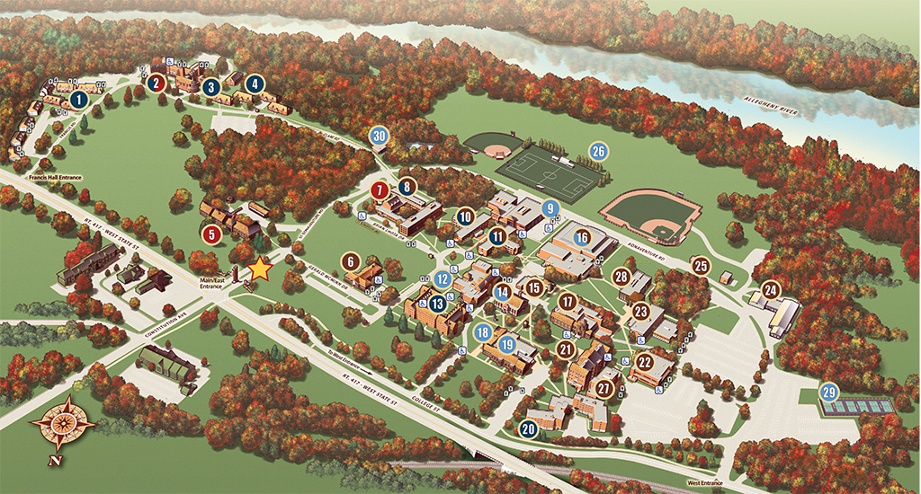 university of st francis campus map St Bonaventure University Becoming Extraordinary